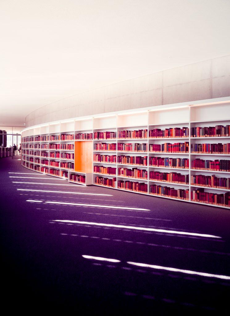 Book shelves in Geneva